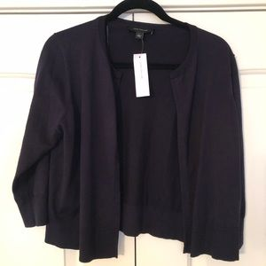 NWT Ann Taylor Cropped Open Cardigan
